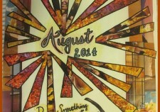 August 2014 Art Journal Cover with Text
