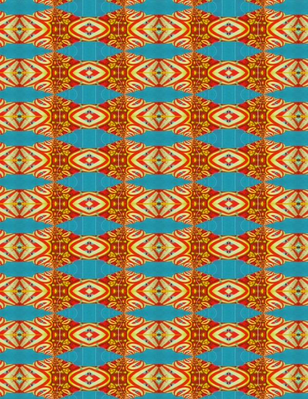 Bold Orange Stripes Bead Sheet