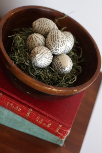 Book Page Eggs