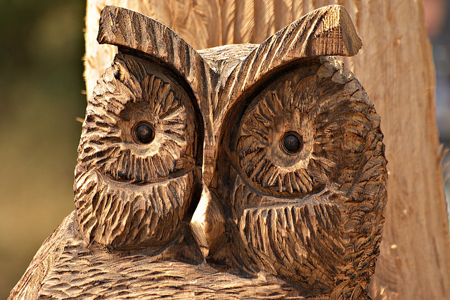 Carved Wooden Owl
