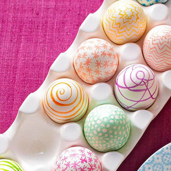 Colored Marker Easter Eggs