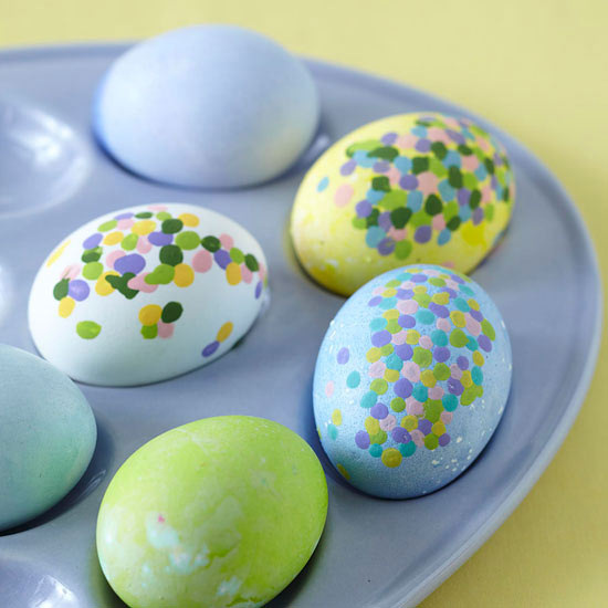 Dotted Painted Eggs