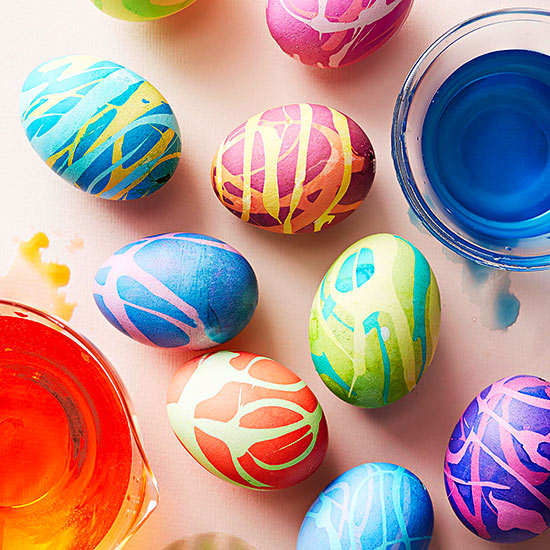 Drizzled Easter Eggs