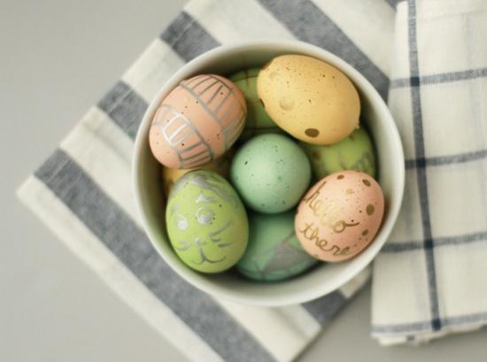 Metallic Egg Art