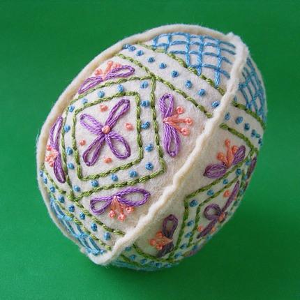 Embroidered Felt Eggs