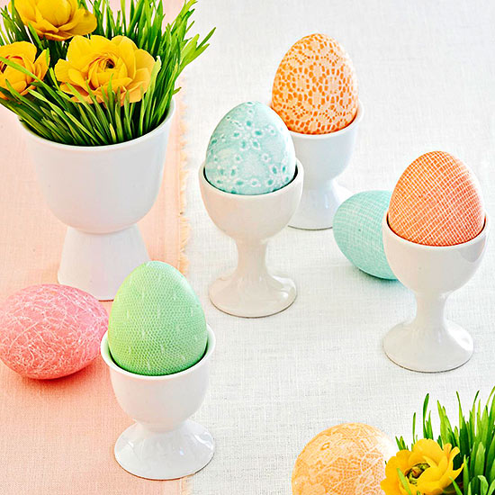Fabric-dyed Easter Eggs