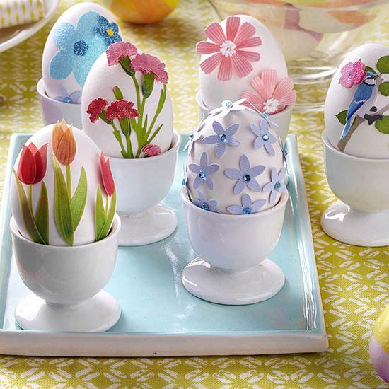 Flower Garden Easter Eggs