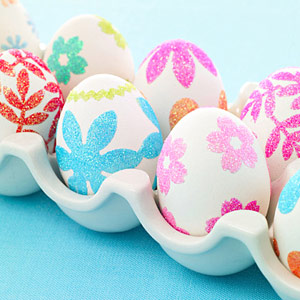 Glitter Sticker Easter Eggs