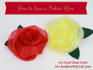 How to Sew a Fabric Rose