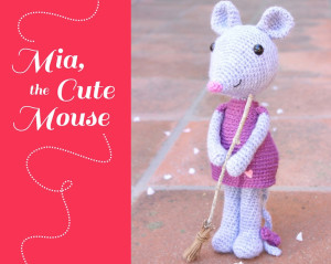 Mia the Cute Mouse Amigurumi