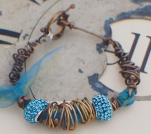 Organic Wire-wrapped Bracelet