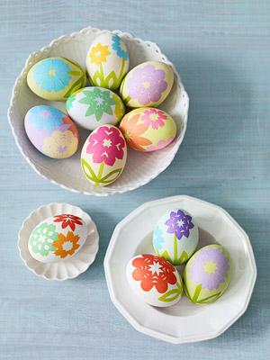 Origami Garden Decoupaged Eggs