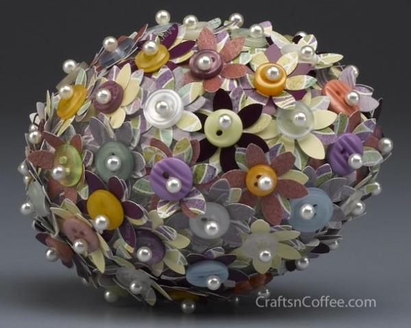 Paint Chip Flower Easter Eggs