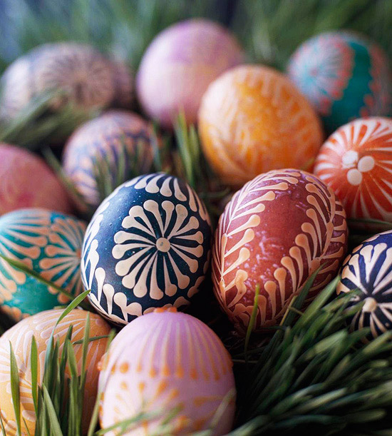 Psanky Dyed Eggs