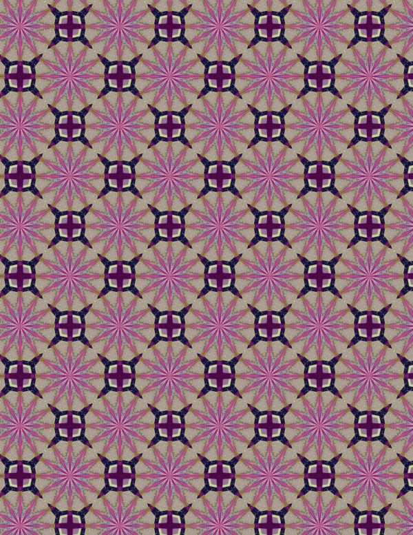 Purple Star Pattern Paper to Print