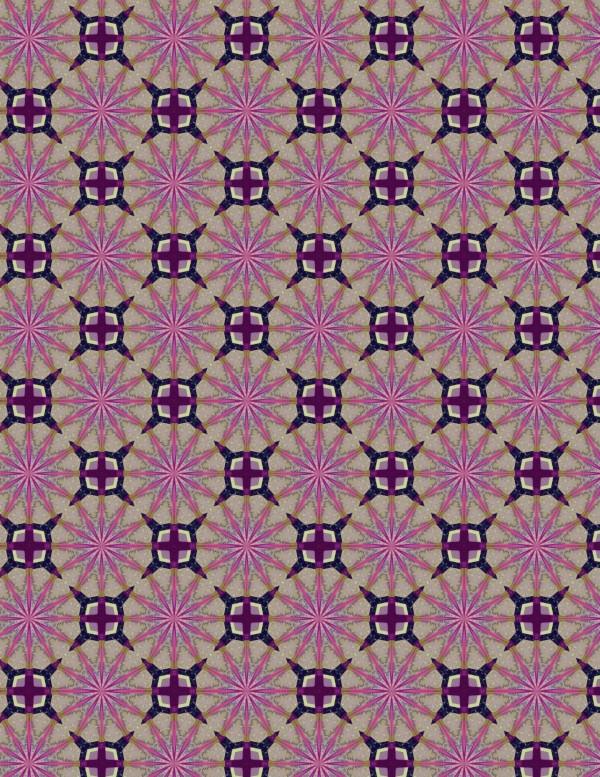 Purple Star Pattern Paper to Print