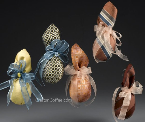 Recycled Tie Eggs