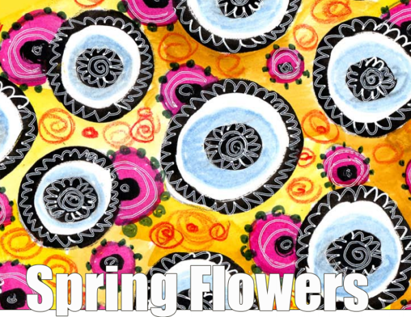 Spring Flowers_Peony and Parakeet