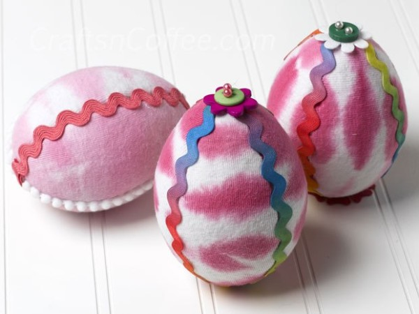 Tie-dyed T-shirt Easter Eggs