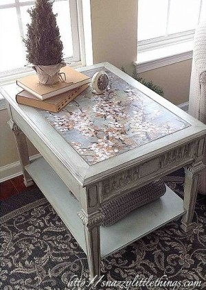 Upcycled Decoupage Table