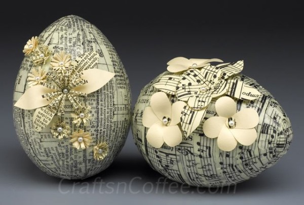 Vintage Tissue Tape Eggs