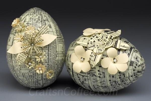Vintage Tissue Tape Eggs