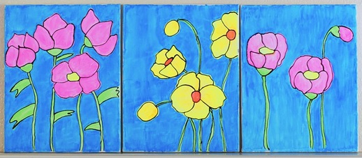Watercolor Flower Wall Art