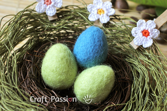 Wet Felted Easter Eggs
