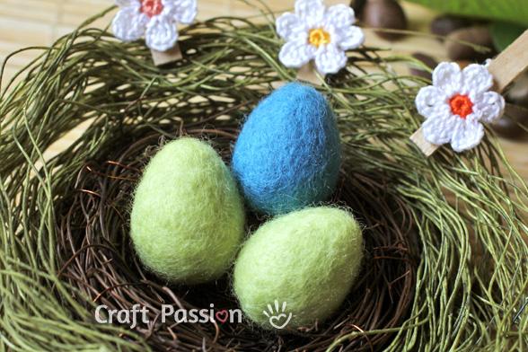 Wet Felted Easter Eggs