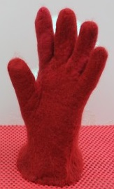 Wet Felted Gloves