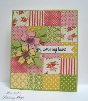 You Warm My Heart Quilt Card