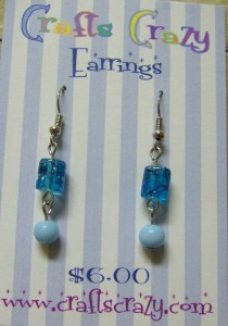 Aqua Splash Earrings