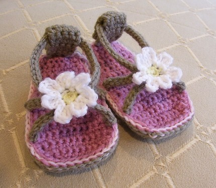 Daisy Baby Flip-Flops by Holland Design