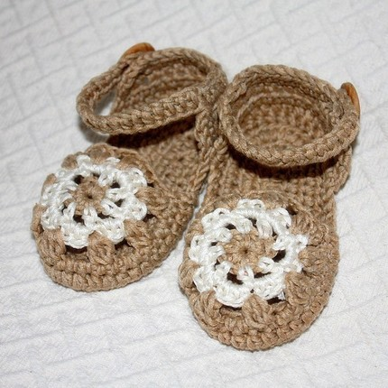 Baby Sandals by Monpetitviolon