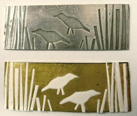 Brass Bird Plate