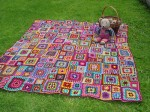 Bright Granny Squares Afghan