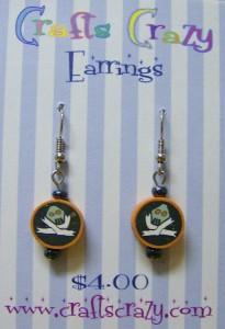 Halloween Zombie Earrings