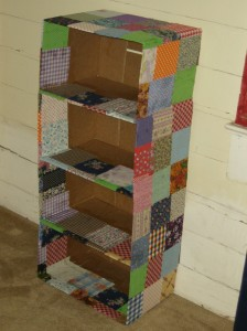 Recycled Box Shelf
