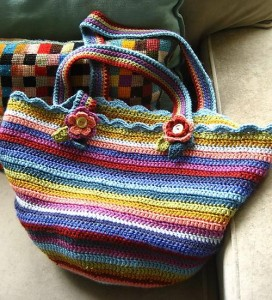 Striped Crochet Bag from Attic 24